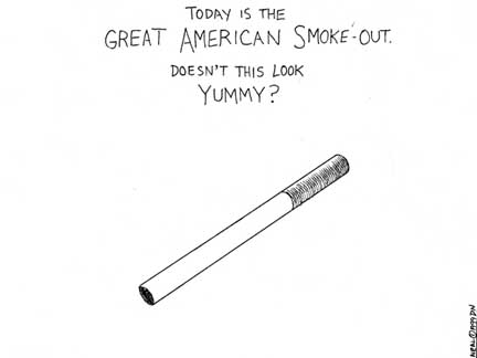 great american smoke out cigarette