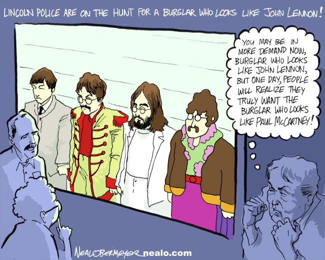 john lennon paul mccartney burglar police