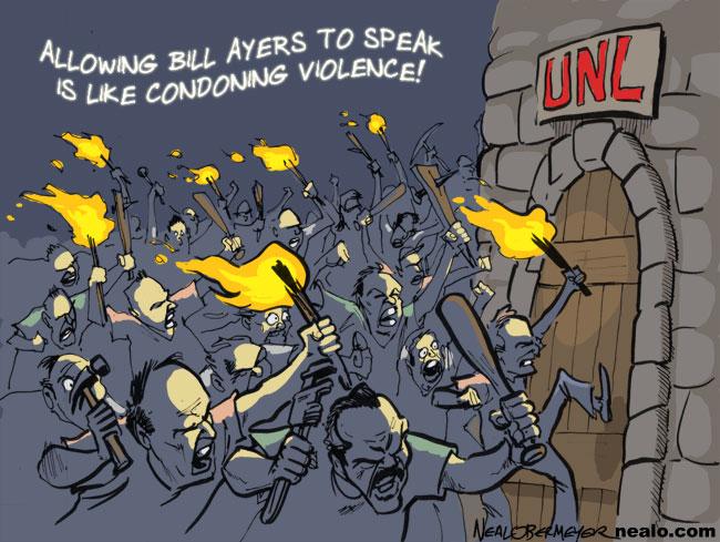 bill ayers terrorist university of nebraska lincoln