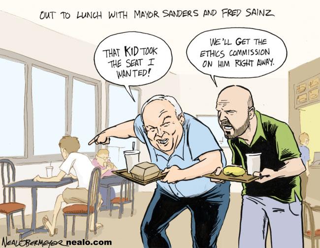 jerry sanders fred sainz ethics commission