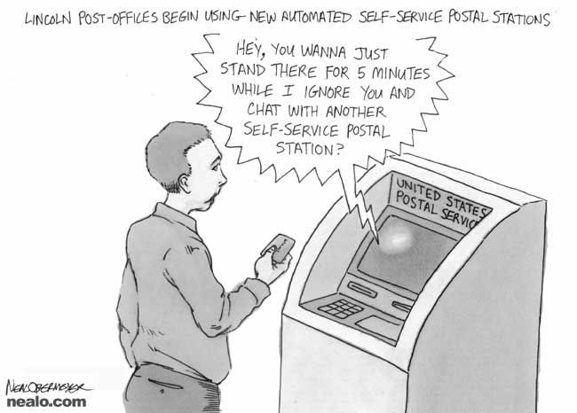 mail post office automated self service machines