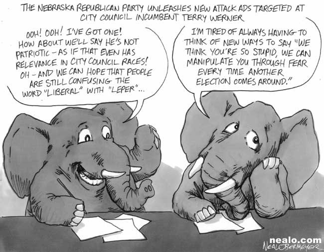elephant republican stupid city council terry werner