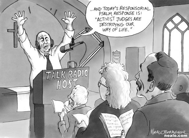 activist judges talk radio host