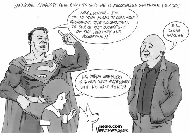 pete ricketts superman little orphan annie