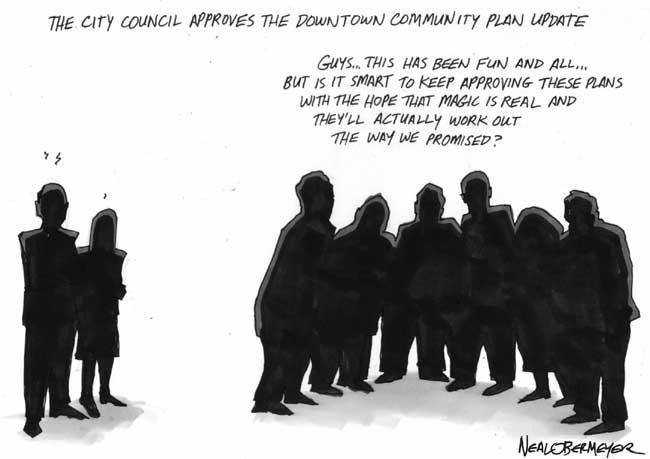 city council downtown community plan