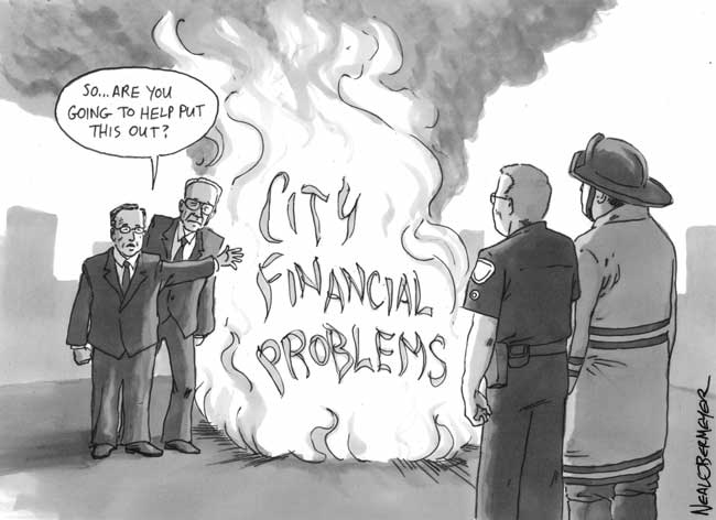 fire fighter police officer dick murphy mike aguirre financial problems