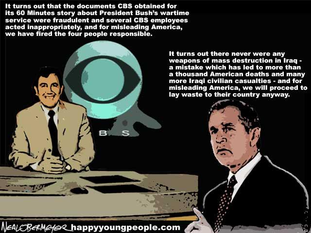 cbs lies 60 minutes george bush iraq weapons mass destruction