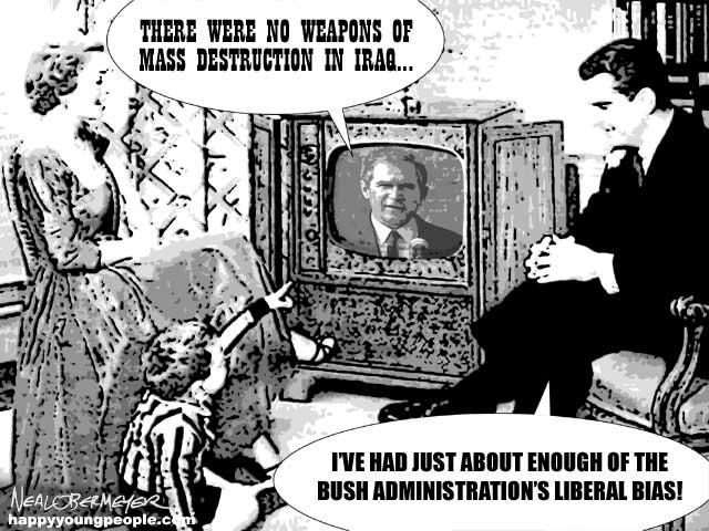 george bush liberal bias weapons mass destruction iraq