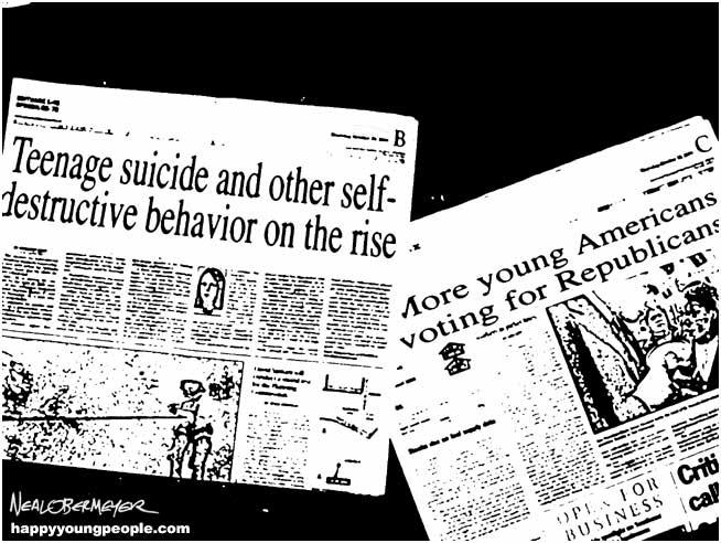 happy young people republicans suicide self destructive