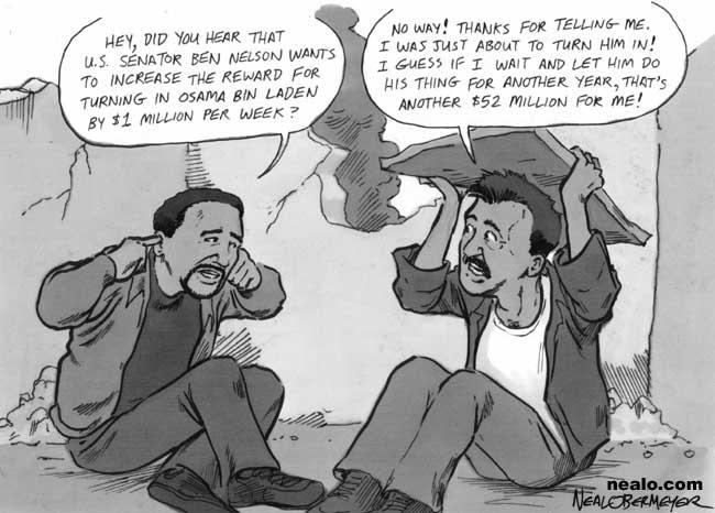 osama bin laden cartoon picture. Cashing in on Bin Laden - Dec