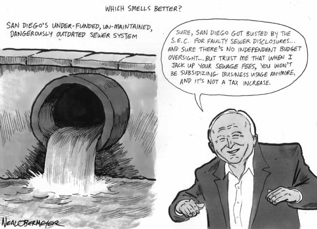 sewer Mayor Jerry Sanders sewage fees tax